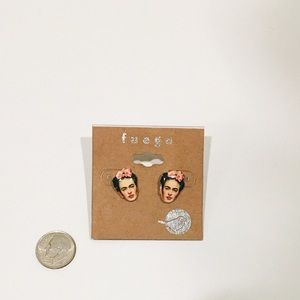 Fuego Frida Kahlo stud earrings